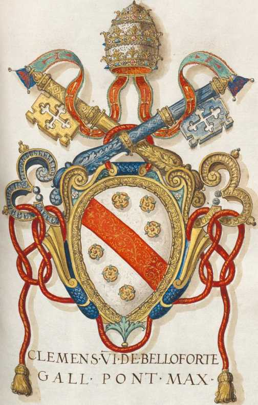Papst Clemens VI. Wappen (143r ... from