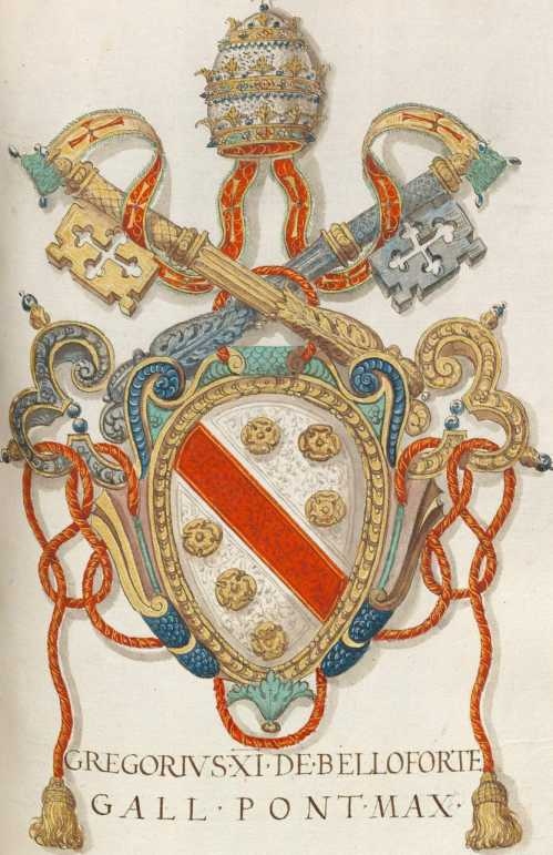 Papst Gregor XI. Wappen (164r ... from