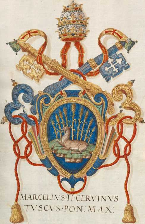 Papst Marcellus II. Wappen (196r ... from