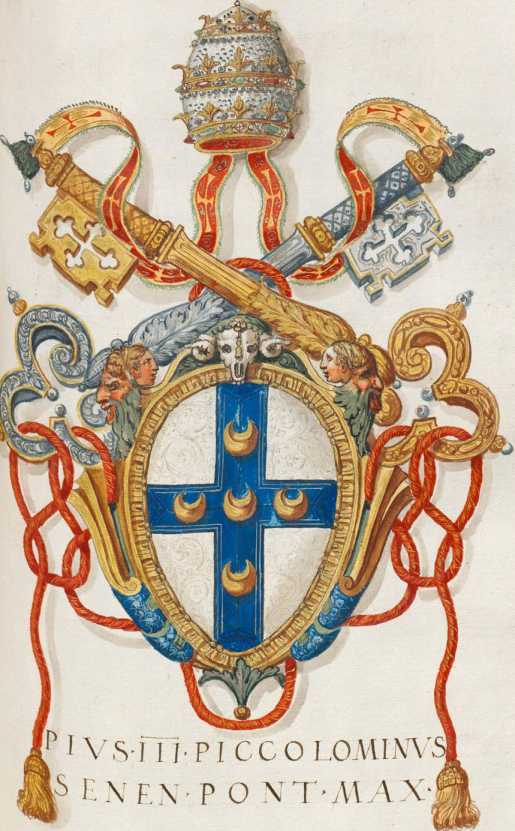 Papst Pius III. Wappen (213r ... from