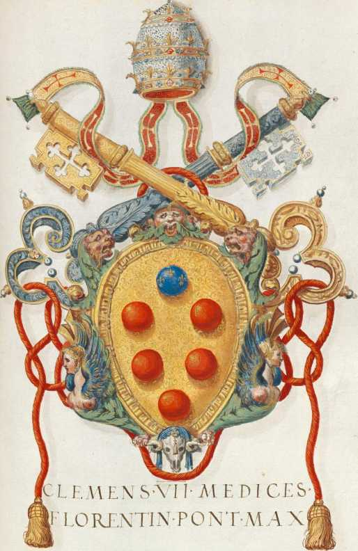Papst Clemens VII. Wappen (279r ... from