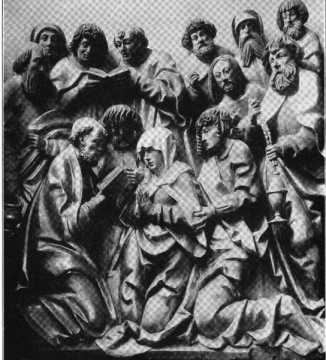 Fig. 102. Ortenburgkapelle. Relief des T...