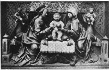 Fig. 105. Ortenburgkapelle. Selbdrittgru...