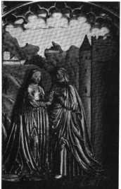 Fig. 138. Trenbachkapelle. Reliefs am Al...