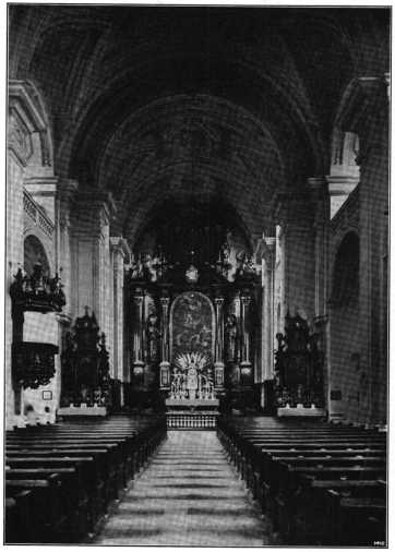 Fig. 229. Pfarrkirche St. Paul. Innenans...