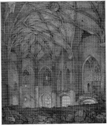 Fig. 240. Salvatorkirche. Inneres vor de...