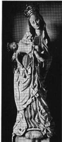 Fig. 254. St. Severin. Marienfigur am Ho...