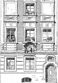 Fig. 445. Hausfassade am Oberen Sand (Nr...