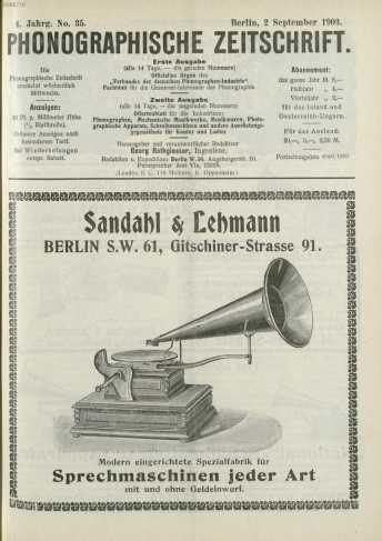No. 35.Berlin, 2. September 1903. Zweite...