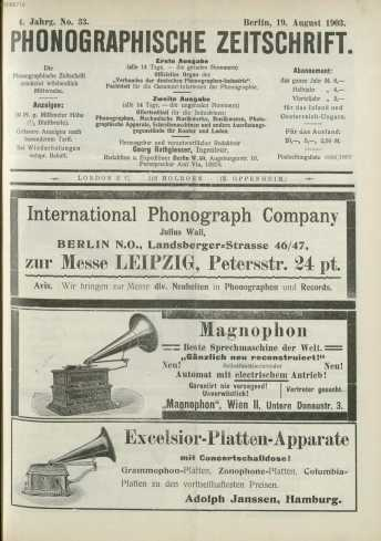 No. 33.Berlin, 19. August 1903. ... from