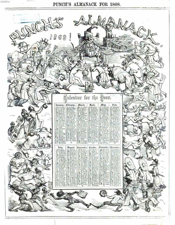 Punch's Almanack for1868  aus