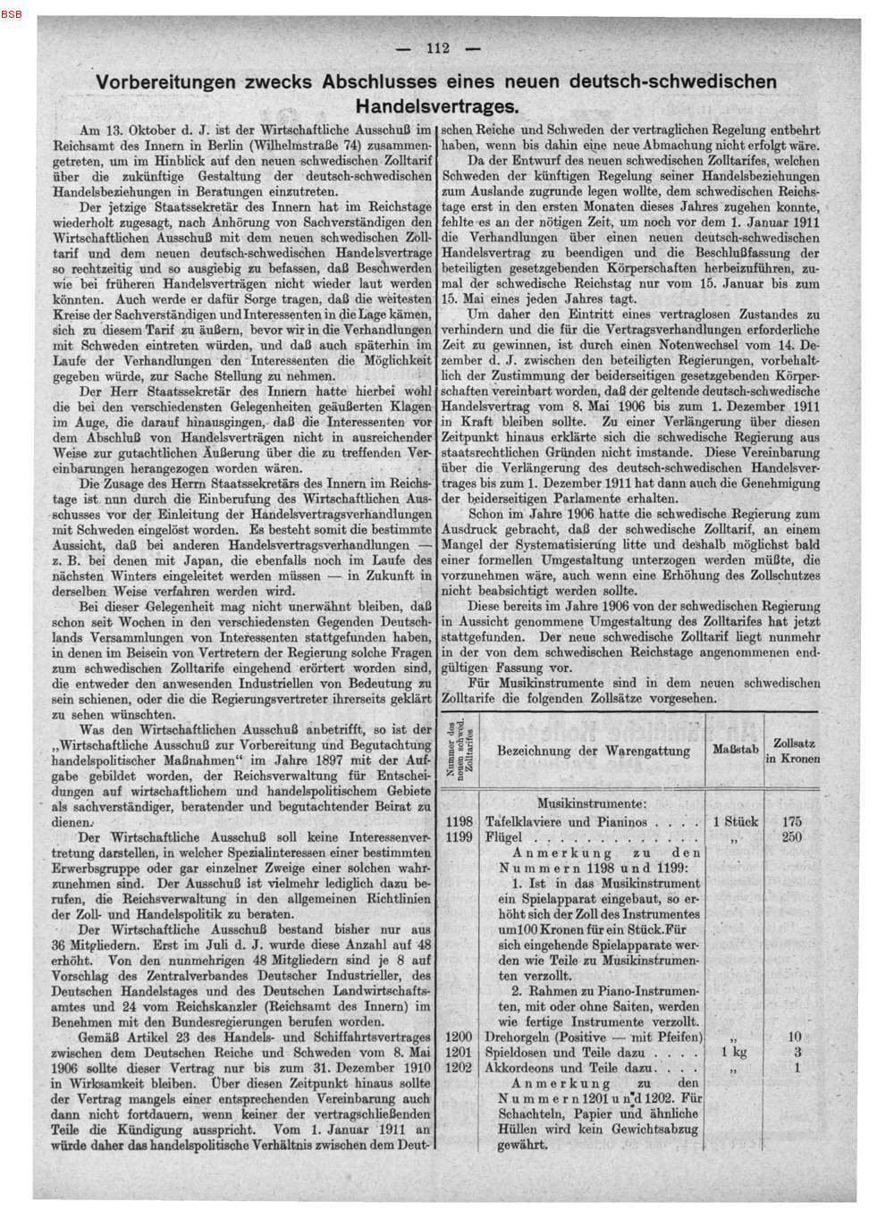 S 112 Vorbereitungen Zwecks Abschlusses Eines Neuen Deutsch