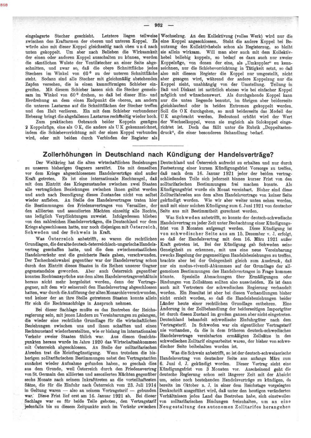 S 962 Zollerhöhungen In Deutschland Nach Kündigung Der