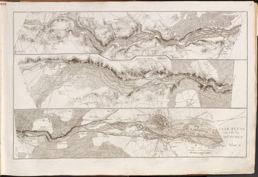 Isar Fluss Karte.Isar Fluss Von Tölz Bis München Bl 2 Aus Riedl Adrian Von
