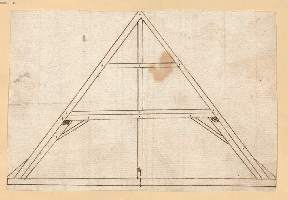 Dachstuhl Konstruktion 61r Aus Konvolut Von Planen Zu Kapuziner