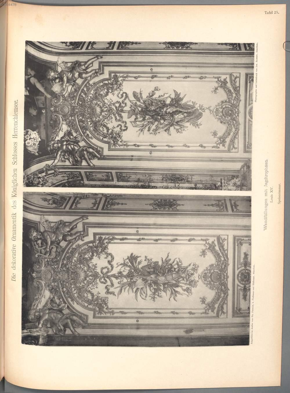 Tafel 25wandfüllungen Mit Jagdtrophäen Speisezimmer Aus Perron