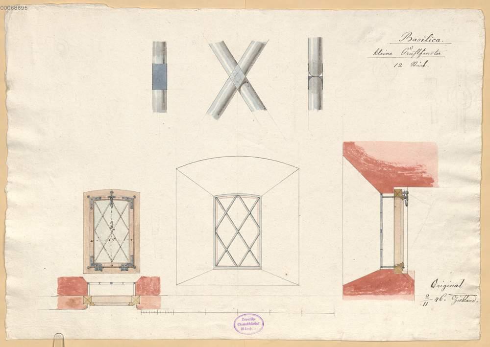 Kleine Gruftfenster Mit Detailzeichnung Vom Gitter 23 16r Aus