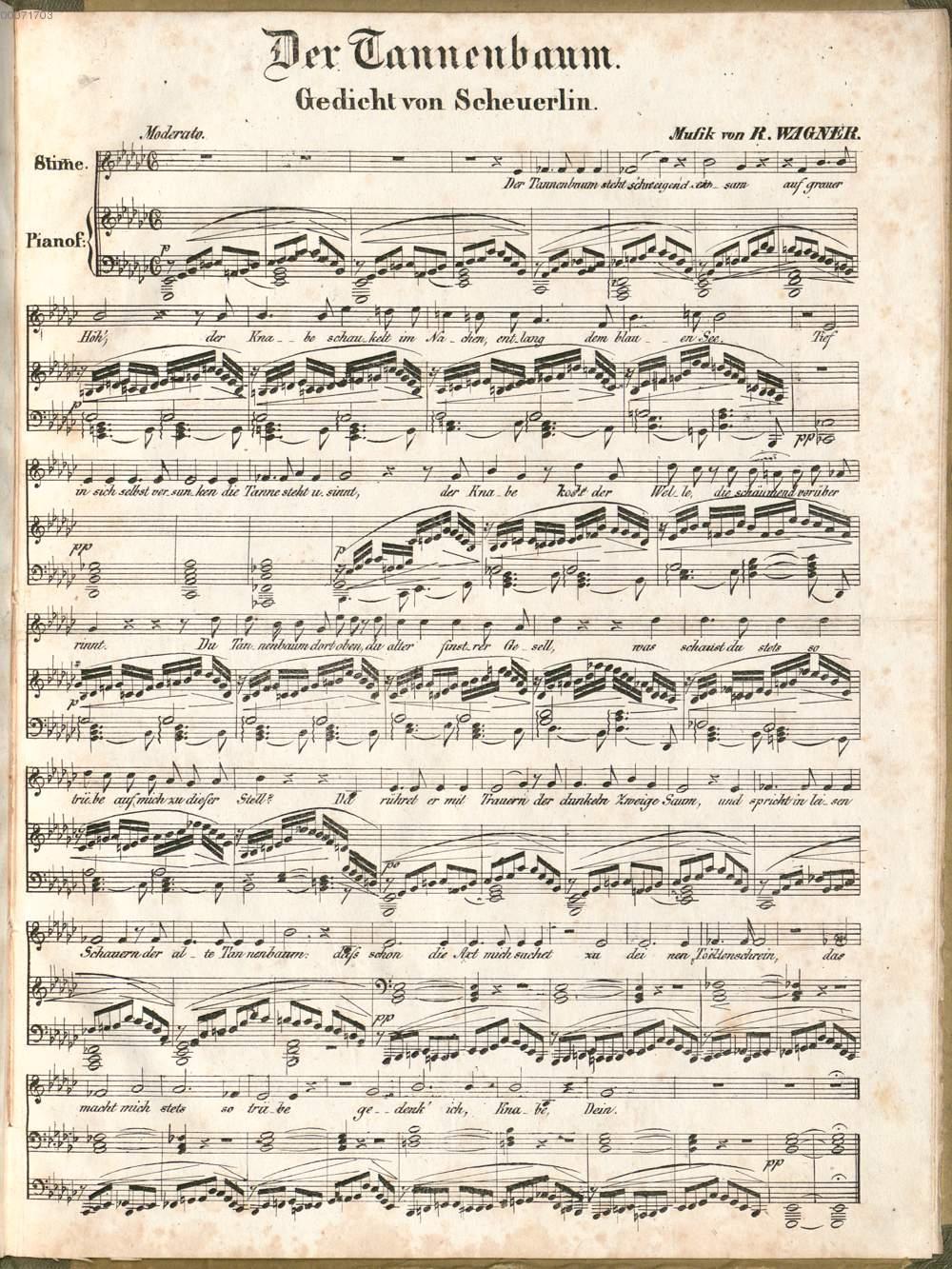 Tannenbaum Gedicht.Wagner Richard Der Tannenbaum Gedicht Von Scheuerlin Karlsruhe