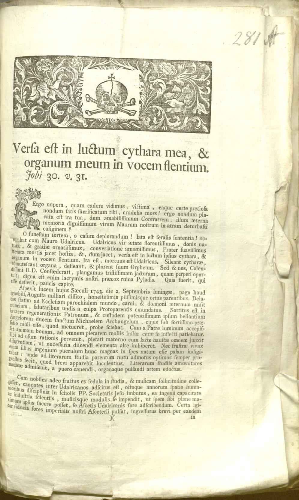 Priester Ulrich Michael Beitinger Augsburgst Ulrich Und Afra