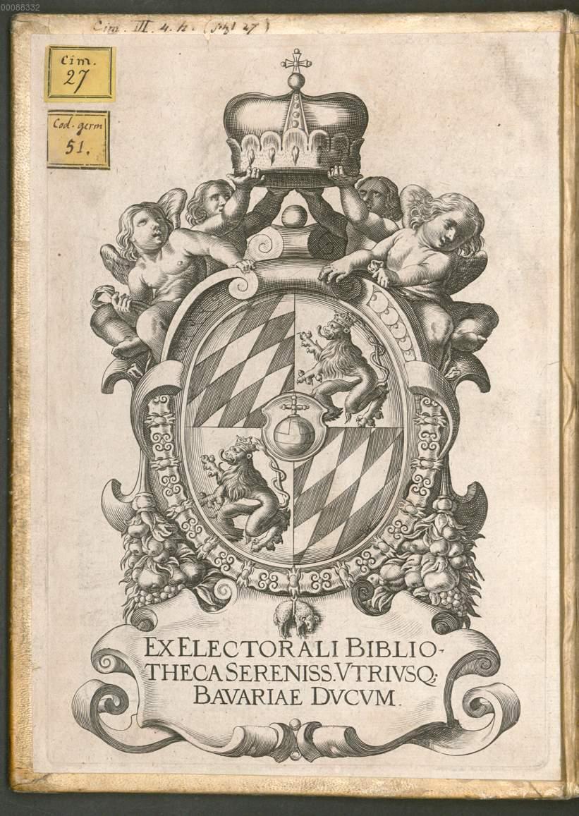 Vorderer Spiegelexlibris Der Hofbibliothek 1630 Vs