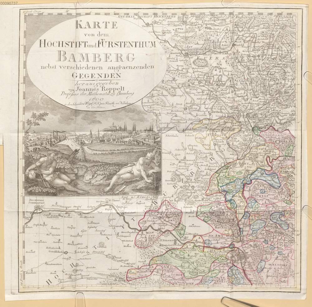 Karte Bamberg.Roppelt Johann Baptist Karte Von Dem Hochstift Und