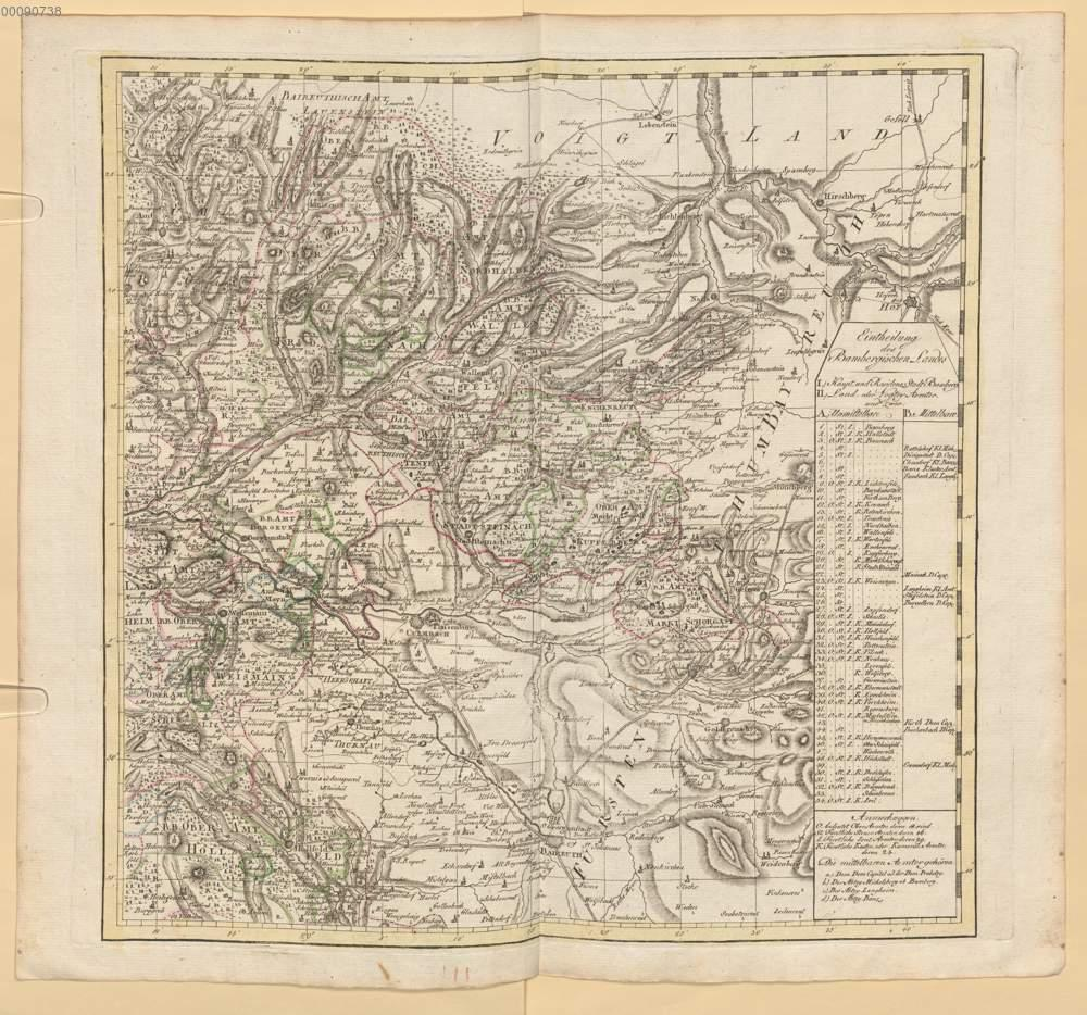 Karte Bamberg Landkarte.Roppelt Johann Baptist Karte Von Dem Hochstift Und