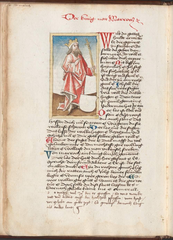 Federzeichung Der König Von Marroch De Losbcher