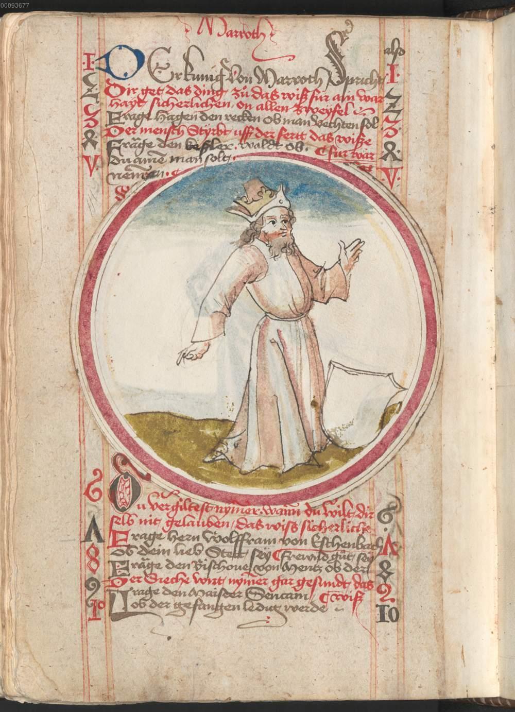 Federzeichnung Der König Von Marroch De Losbcher